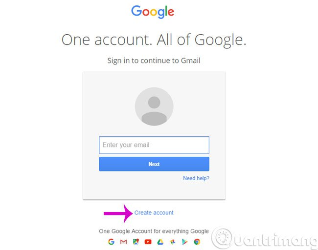 Click Create Account